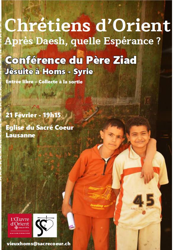 Affiche de la conférence du père Ziad